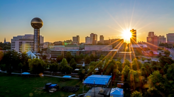 Skyline of Knoxville from UT ccampus